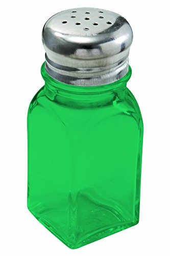 (Emerald Green Square Shaker 2 oz. set of 2 - Additional Vibrant Colors Available by TableTop King)