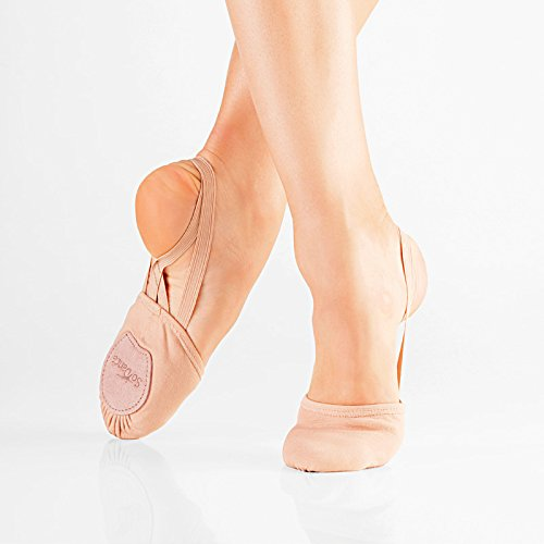 So Danca BA-42 Cuero media suela zapatos de ballet
