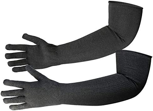 Protective Kevlar Gloves with Sleeves Level 5 Protection Heat & Cut Resistant Sleeves Gloves Safety Sleeves for Welding, Kitchen, Gardening, Pet Grooming & Bite Guard