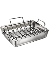 Calphalon Contemporary 16-Inch Stainless Steel Roasting Pan with Rack