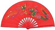 Bamboo Fan, Chinese Kung Fu Tai Chi Fan Folding Dance Fans Right Hand Wushu Dance Practice Training
