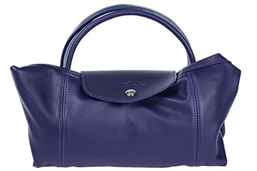 In A Nuova Shopping Viola Longchamp Donna Mano Pelle Borsa LUzVqSpGM