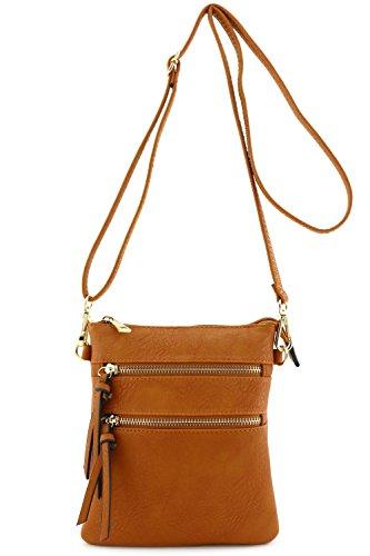 Functional Multi Pocket Crossbody Bag Brown - Brown Womens Bag