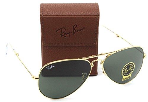 Ray-Ban RB3479 001 Folding Aviator Sunglasses Gold Frame / Green G-15 Lens - Ban Folding Aviator Ray