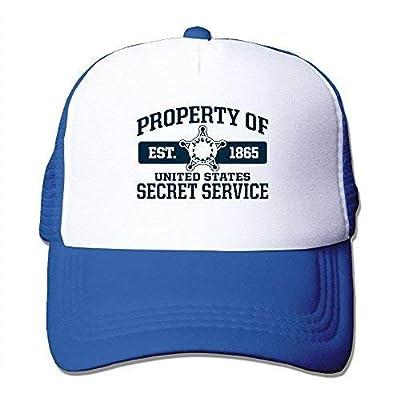Edwardsxxx Property of United States Secret Service 1865 Summer Sun Protection Mesh Cap Baseball Hat Cap Adjustable RoyalBlue