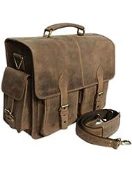 ANNUCREATIONS Leather Camera Bag Brown Waterproof DSLR; SLR Vintage Laptop Shoulder Messenger SALE
