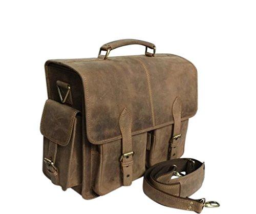 ANNUCREATIONS Leather Camera Bag Brown Waterproof DSLR; SLR Vintage Laptop Shoulder Messenger SALE by ANNUCREATIONS