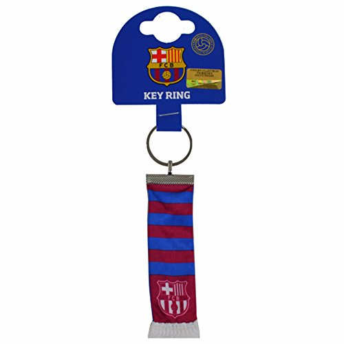 FC Barcelona Official Soccer Bar Scarf Keychain (One Size) (Blue/Claret)