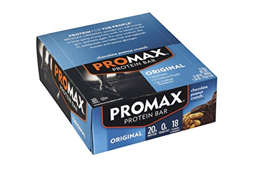 Promax Bar Chocolate (Promax Protein Bar, Chocolate Peanut Crunch, 12-Pack)