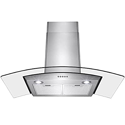 """Perfetto Kitchen and Bath 30"""" Convertible Wall Mount Range Hood in Stainless"""