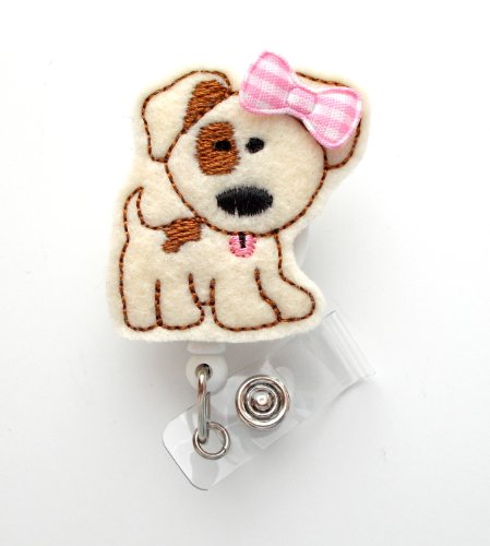 Ms. Patch the Puppy - Cute Badge Holder - Nurses Badge Holder - Felt Badge Holder - Nursing Badge Holder - Cute Badge Reel - RN Badge Reel - Teacher Badge - Badge Clip - Badge Pull