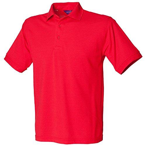 Henbury schwere Pique Polo Shirt H400rot groß