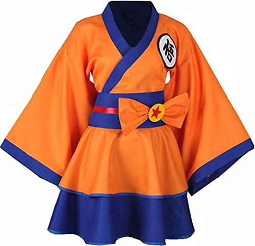 Female Goku Costume (NSOKing New Japanese Dragon Ball Z Cosplay Costume Party Maid Dress Outfit (X-Small,)