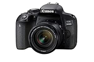 Canon EOS 800D EF-S 18-55mm F4-5.6 IS STM lens - 24.2 MP, DSLR Camera, Black