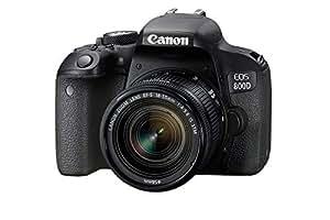 Canon EOS 800D Single Kit with EFS 18-55mm f 4-5.6 IS STM Digital Camera - SLR(800DKIS) 3Inch Display,Black (Australian warranty)