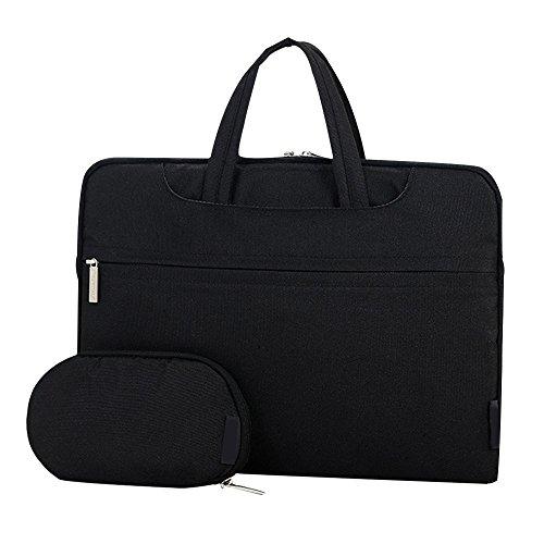 Cuitan 13 13.3 Zoll Wasserdicht Nylon Notebooktasche für Apple MacBook Pro / Apple MacBook Air / Acer Aspire ES1-311 / Asus Zenbook UX305FA, Modisch Laptoptasche Laptophülle Tragetasche Aktentasche Schultertasche Umhängetasche Handtasche mit Power Tasche und Schulter Strap für 13 13.3 Zoll Notebook Ultrabook - Schwarz