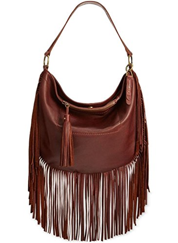 Boho-Chic Vacation & Fall Looks - Standard & Plus Size Styless - Lucky Brand Rickey Hobo Convertible Cross Body, Brandy, One Size