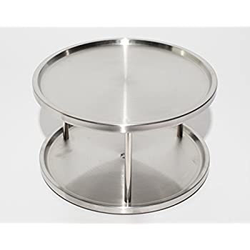 Perfect Lazy Susan Stainless Steel U2013 2 Tier Design Turntable  By Metro Fulfillment  House
