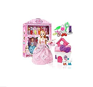 Colour Full Doll Set With Changeable Clothes And Accessories  Non Toxic For Girls