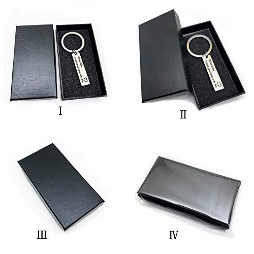 AXEN Key Chain Gift, Drive Safe I need you here with me, Black Style 1