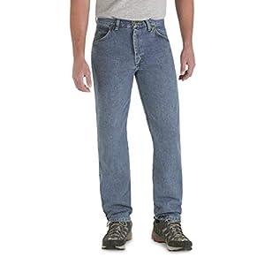 Wrangler Men's Rugged Wear Classic Fit Jeans, Stonewash, W40 L34