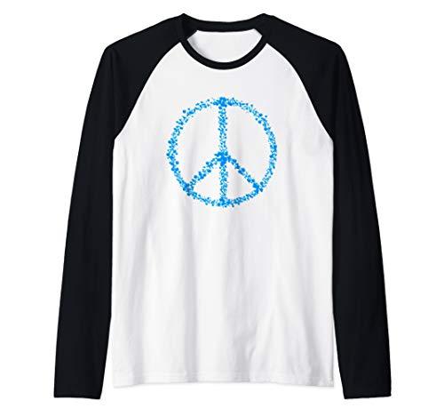 - Peace Symbol Peaceful Hippie Retro Gift Raglan Baseball Tee
