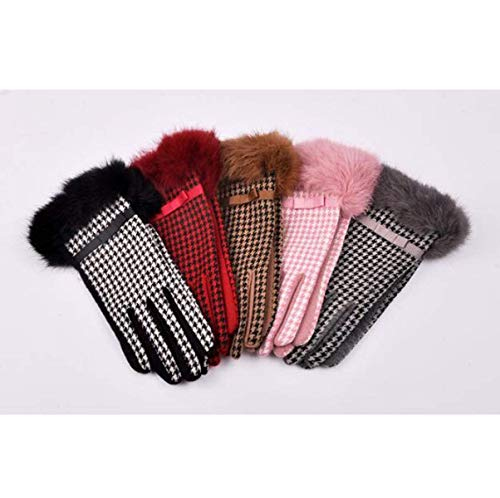 Hx Versione Dito Grey Fashion Coreana Autunno Guanti Chic Ispessimento Donna Caldi E Da Ragazza Inverno rwrSYPxq