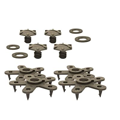 Eagle Klaw - Floor Mat Clips Set of Anti-Slip Fixing Retainers for Car Mats - Made in USA - Beige - Pack of 4 for 2 Mats (Without Cutter): Automotive [5Bkhe0912650]