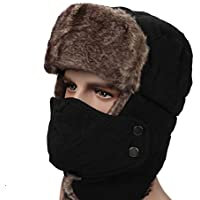 Leories Winter Trapper Trooper Hat Windproof Warm Camouflage Mask Ear Flaps Outdoor Sports Walking Skiing Hunting Hat