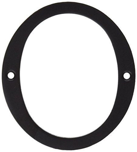 (Deltana RN4-0U10B Solid Brass 4-Inch House Number 0 Board)