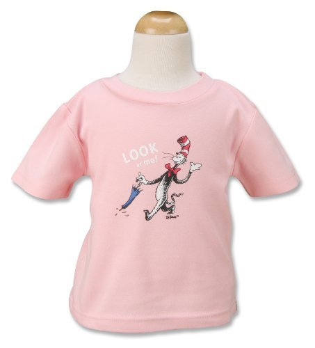 Trend Lab Dr. Seuss T-Shirt, Cat In The Hat, Pink, 24 Months (Cat In The Hat Toddler Shirt)