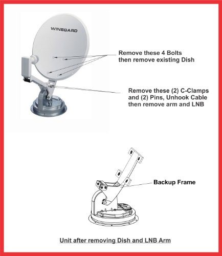 amazon com steellabels winegard crank up upgrade kit convert amazon com steellabels winegard crank up upgrade kit convert your rv s old obsolete winegard rm 4600 rm dm46 to a new dish network folding lnb and