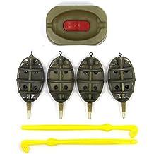 SAMSFX Plastic Environmental Inline Method Feeder and Plastic Loop Tyer Hook Disgorger Remover Carp Fishing Baiting Tools Accessories