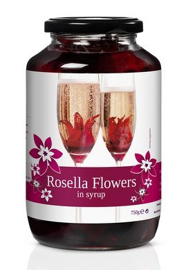 Rosella Wild Hibiscus 40 Flowers In Syrup 750g Hibiscus Flowers