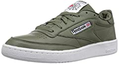 Proclaim your champion status with this Reebok club C. Reebok designed this one with some modern color changes for a contemporary look. Cushion underfoot keeps you comfortable. A high-abrasion rubber outsole adds traction.