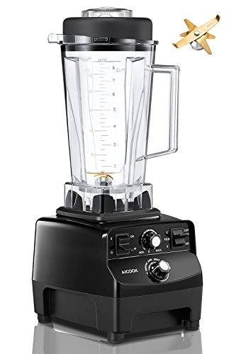Aicook Smoothie Blender, 1450W Professional High Speed Blender/Mixer, 31,000RPM, Commercial Blender for Ice Crushing, 70oz BPA-Free Tritan Pitcher, 6 Pro Titanium Blades, Black