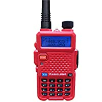 KangLong KL-Y3 Dual Band 136-174MHZ + 400-519.1000MHZ FM Ham Two Way Radio(Red)