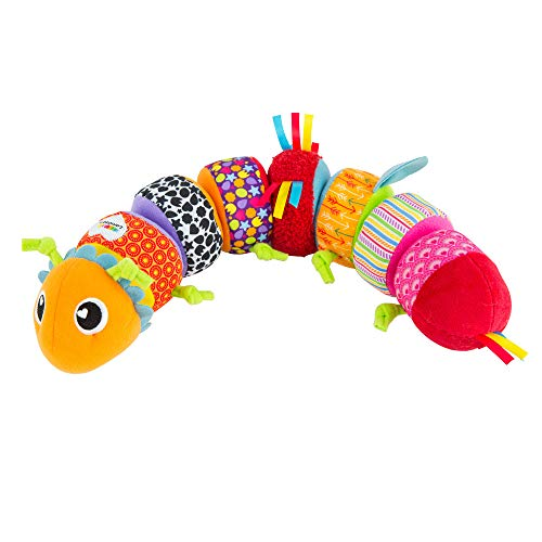 LAMAZE - Mix and Match Caterpillar Soft Toy, Get Baby Playing with Colors, Sounds, Matching and Puzzles with Bold Colors, Playful Patterns, Crinkly Sounds and Detachable Segments, 6 Months and Older (Car Seat Toys Organic)