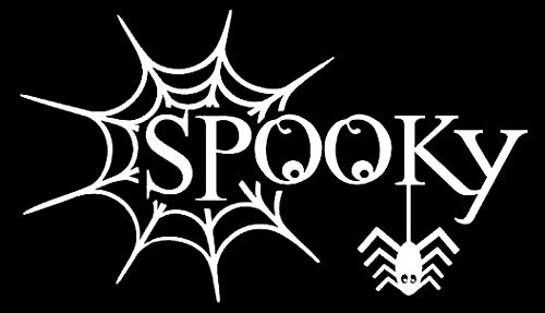 LLI Spooky Spiderweb | Decal Vinyl Sticker | Cars Trucks Vans Walls Laptop | White | 7.5 x 4.3 in | LLI1152