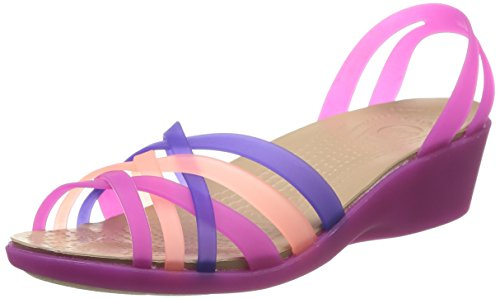 Crocs Huarache Mini - Sandalias de Vestir de Sintético Para Mujer Viola (Vibrant Violet/Melon)