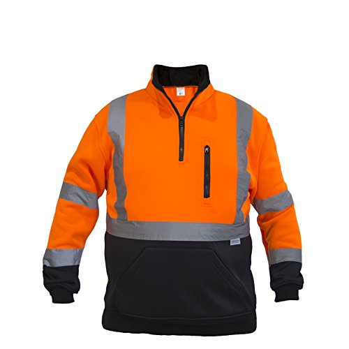 - JORESTECH Pullover High Visibility Half Zipper 100% Polyester ANSI Class 3 (Extra Large, Orange)