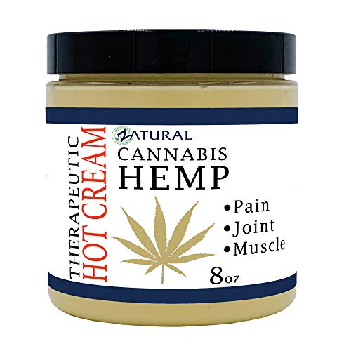 Hemp Hot Cream-Hemp Oil-Organic Hot Cream-Anti Cellulite-Muscle Cream-Pain Support - Natural Sports Rub