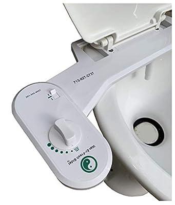 Fresh Water Adjustable Nozzle Retrofit Universal Bidet Toilet Seat Sprayer, Model: AN-1000, Outdoor & Hardware Store