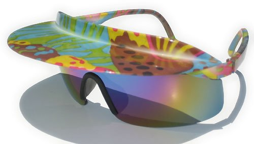 Vintage 80's Visor Wrap Sunglasses (Whacky Wild - Visor Sunglasses With