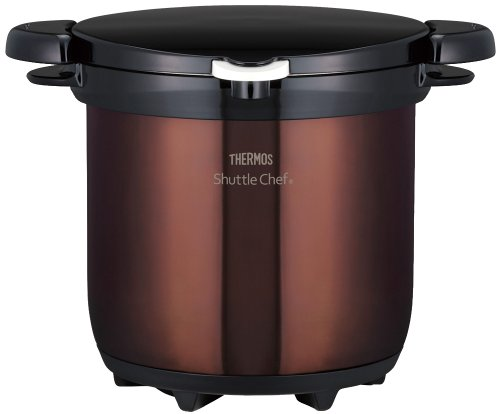 THERMOS Vacuum Insulation Cooker Shuttle Chef 4.5L Clear Brown KBG-4500 CBW (Japan import) by Thermos