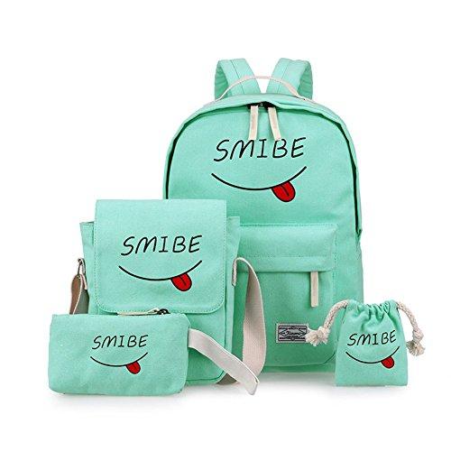 De Glauco Claro Zarco Billetera Niños Mochila Bolsa Sonriente Portalápices Azul Cara Niñas Adolescentes Hombro xHqRYFBw