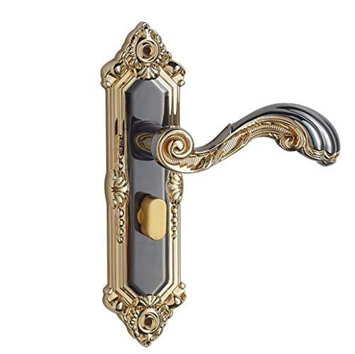 JBHURF Cerradura mecánica de la manija Dormitorio Puerta de Madera Simple Puerta de Acero Inoxidable Cerradura de embutir...