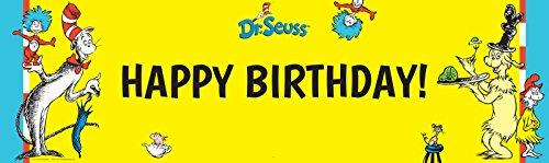 Dr Seuss Party Supplies - Vinyl Birthday Banner 18