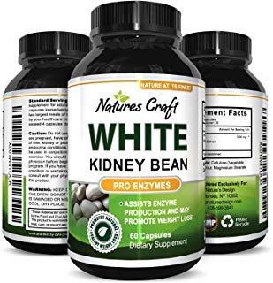 Pure White Kidney Bean Extract Carb Blocker - Natural Supplement for Appetite Control & Health - Weight Loss & Energy Pills for Women & Men - Digestive Support Capsules for Fat Loss