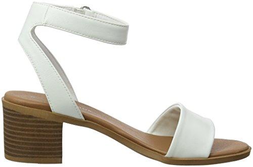 New Look Women's Piggy Ankle Strap Sandals White (White 10) yaNx7FM